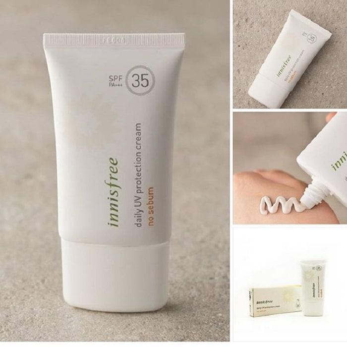 Kem chống nắng giúp bảo vệ da và không nhờn phù hợp với da mụn.
