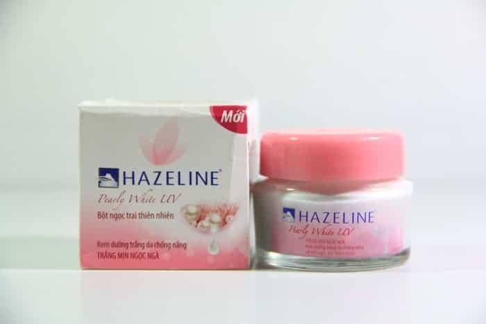 Kem dưỡng da mặt Hazeline trắng mịn màng từ bột ngọc trai.