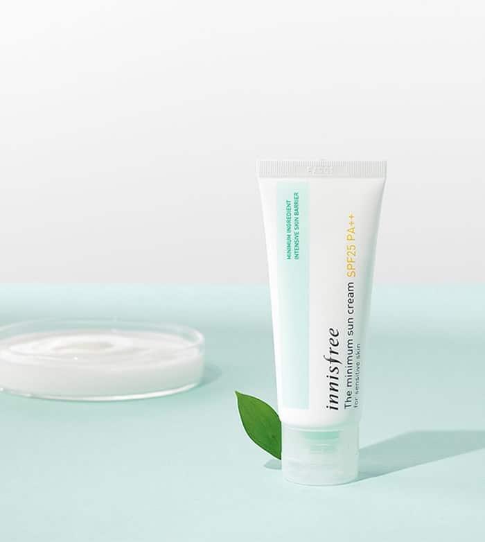 Kem chống nắng Innisfree dành riêng cho da nhạy cảm.