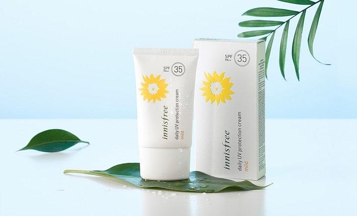 Kem chống nắng Innisfree này phù hợp với da khô và da nhạy cảm.