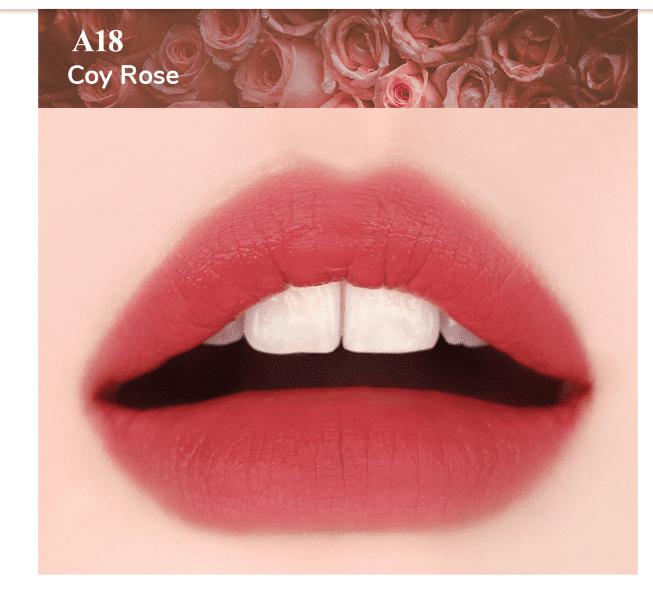Son Black Rouge Ver 4 màu A18 Coy Rose: Hồng nâu coral điểm nâu tinh tế