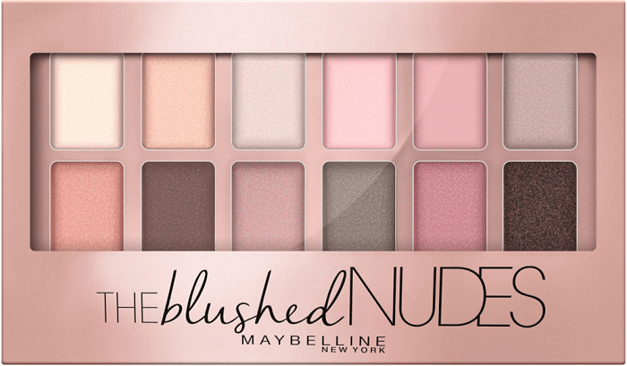 Bảng màu phấn Nudes Maybelline.
