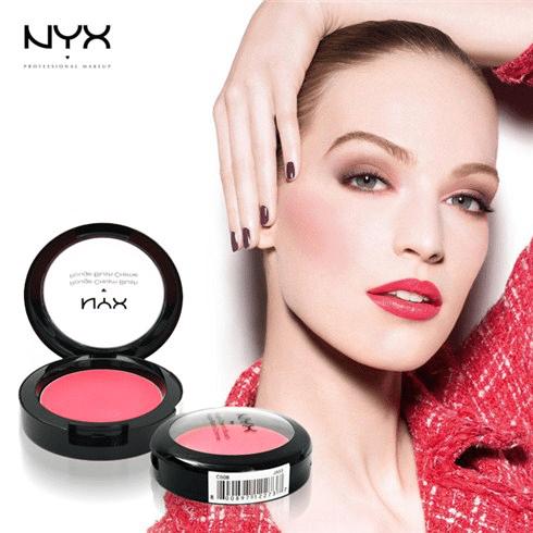 Má hồng của NYX lên màu khá là đẹp và nổi bật.