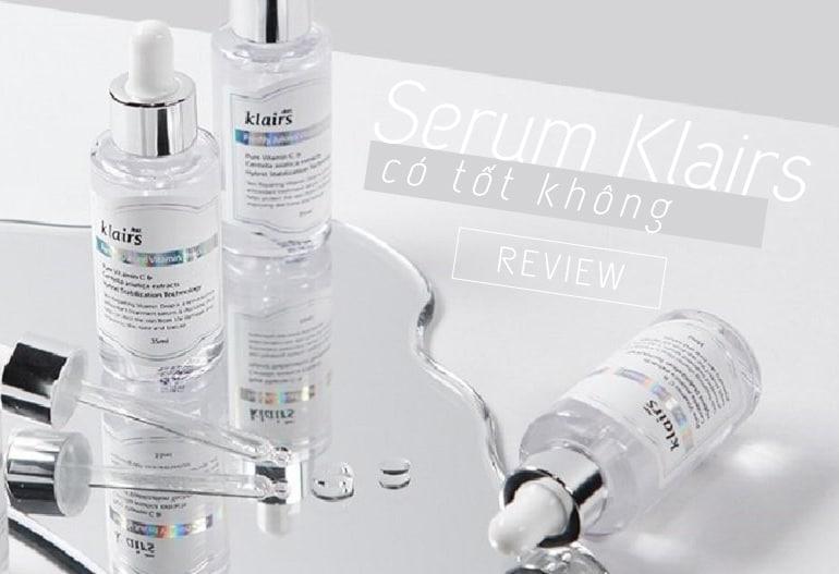 serum klairs có tốt không