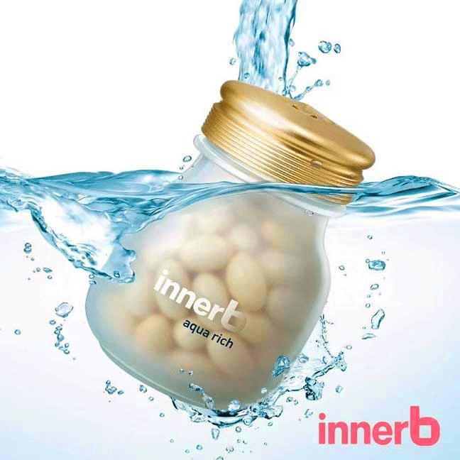 """viên uống cấp nước và collagen innerb aqua rich là """"hot item"""" tại Hàn."""