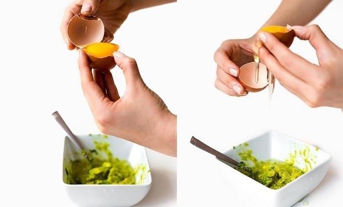 cách làm trắng da bằng trứng gà