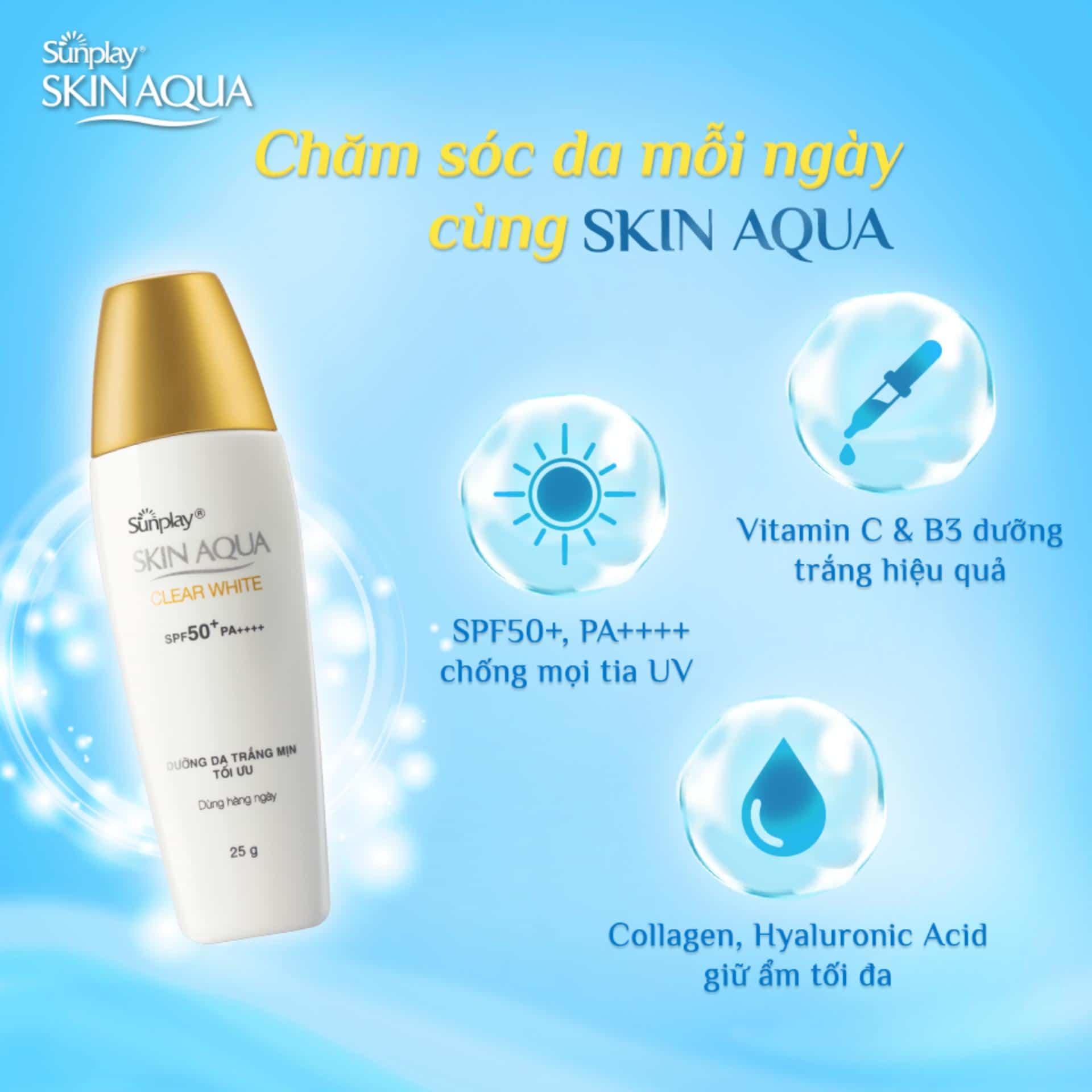 kem chống nắng skin aqua clear white
