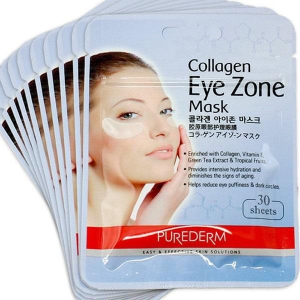 cách đắp mặt nạ mắt collagen