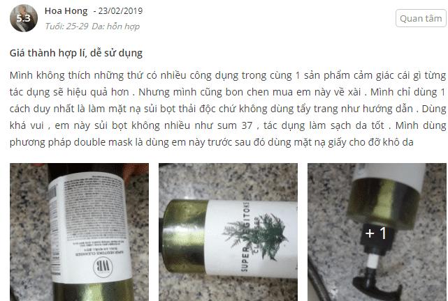 sữa rửa mặt rau củ review sheis