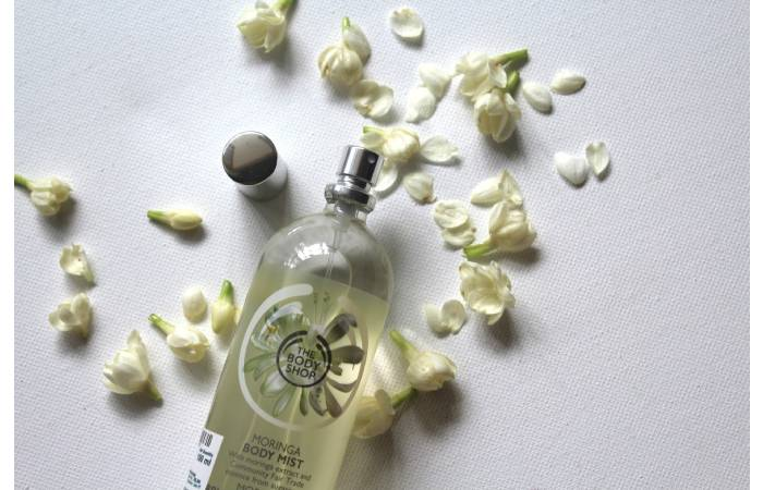 body mist the body shop moringa