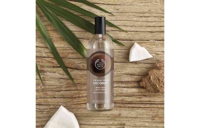 coconut body mist the body shop