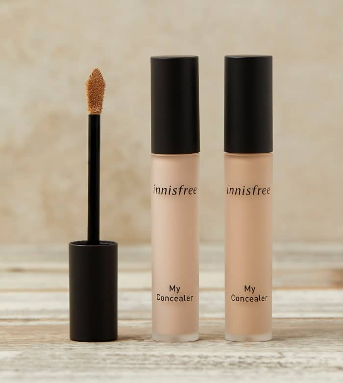 kem che khuyết điểm innisfree my concealer wide cover
