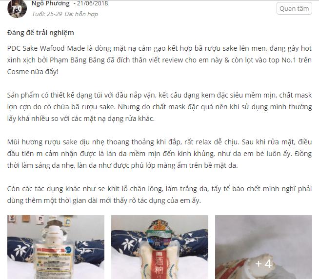 mặt nạ bã rượu sake nhật