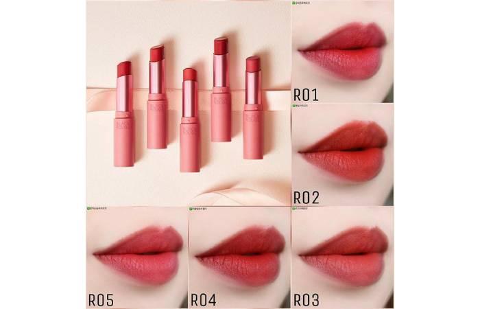 bảng màu son thỏi black rouge rose velvet lipstick