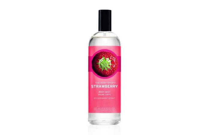 strawberry body mist the body shop mùi dâu tây