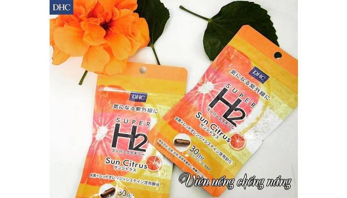 viên uống chống nắng dhc super h2 sun citrus