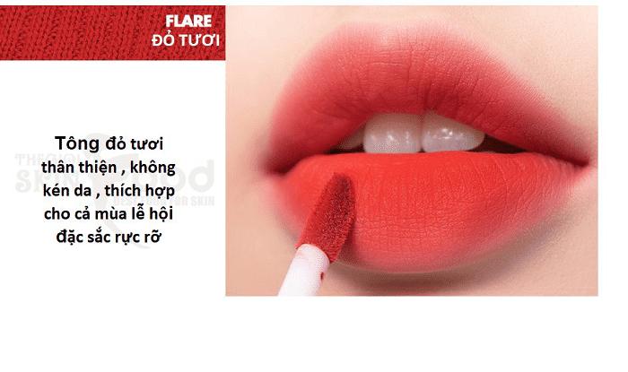 Son Romand Zero Velvet Tint 11 Flare: Màu đỏ tươi