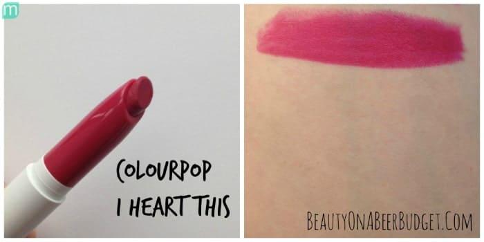 Son Colourpop Lippie Stix I Heart This – Màu Hồng Tím Đỏ