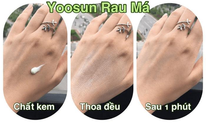 kem trị mụn rau má yoosun