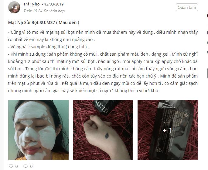 mặt nạ thải độc sum đen cách dùng