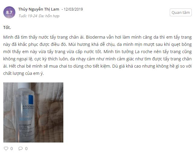 nước tẩy trang laroche posaycho da nhạy cảm