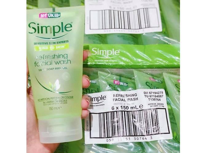 sữa rửa mặt simple oil balancing review