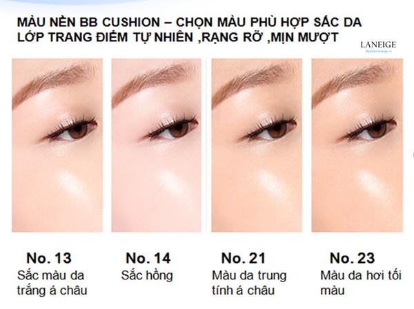 cushion laneige tone 21