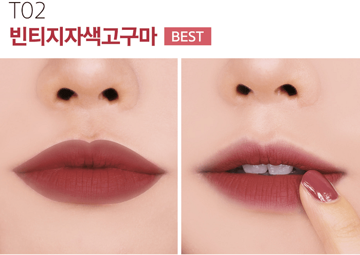 black rouge cotton lip color t02