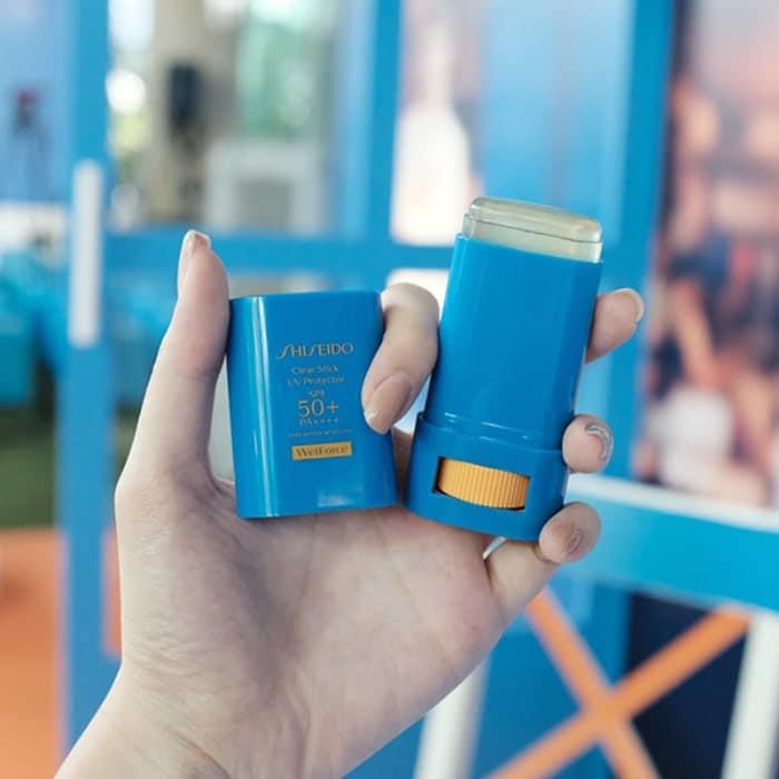 kem chống nắng dạng thỏi shiseido