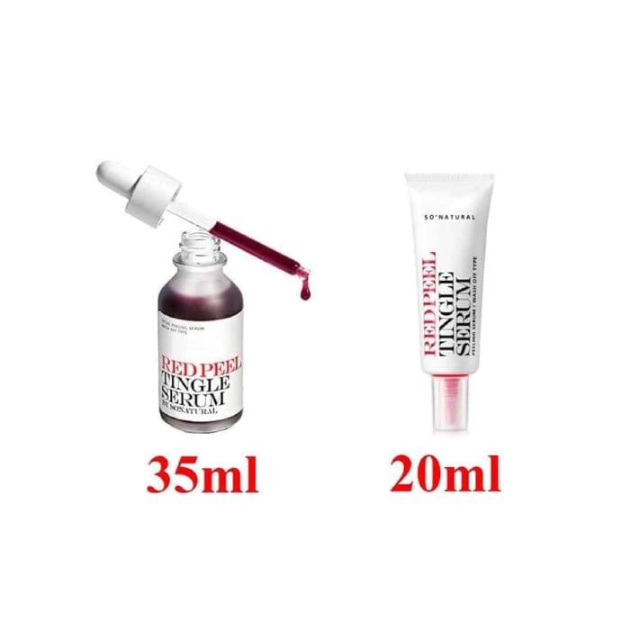 red peel tingle serumcách dùng