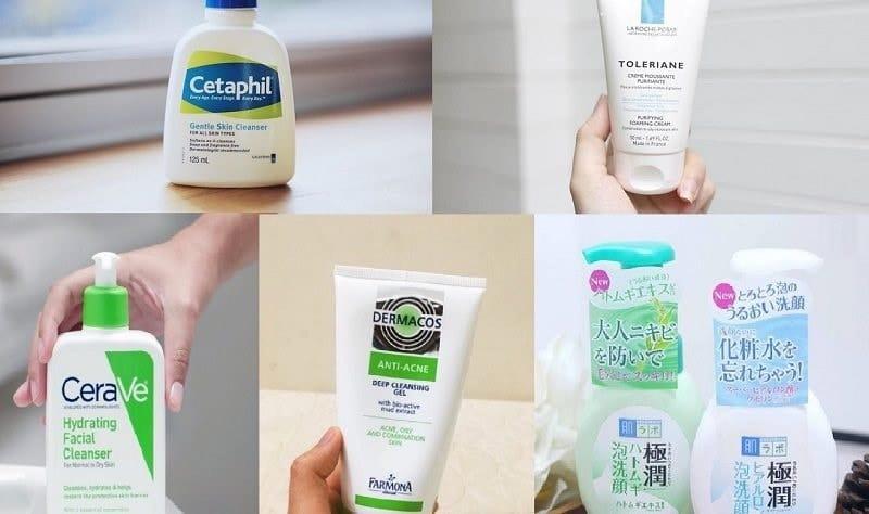 chọn sửa rửa mặt cho da dầu